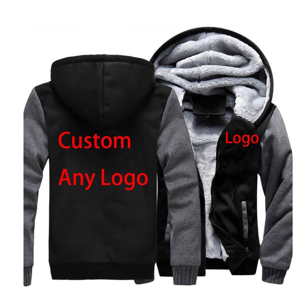 Custom Any Logo Jacket Winter Thick Warm Coat