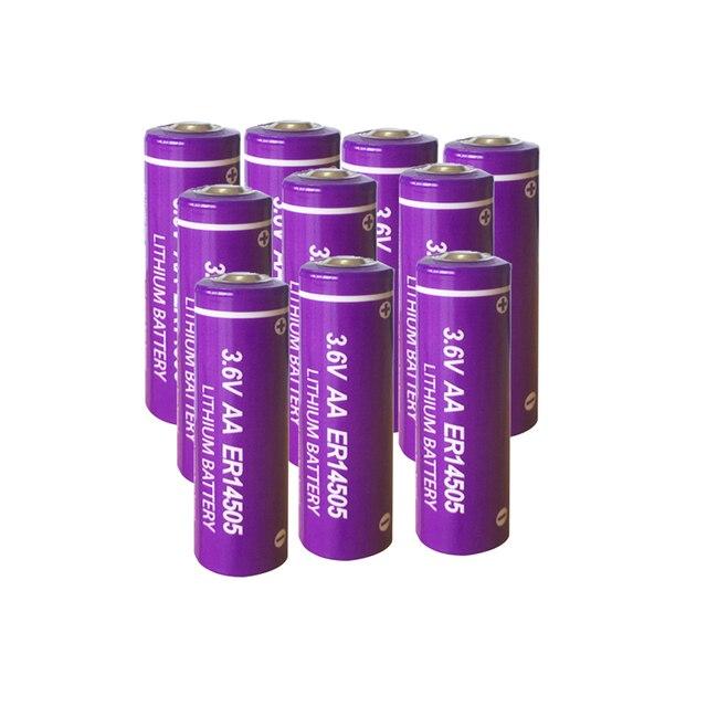 10Pcs 3.6V ER14505 14505 2400mah AA LiSCLO2 Battery Superior LR6 R6P 1.5V Batteries For GPS Tracking Cameras Memory backup