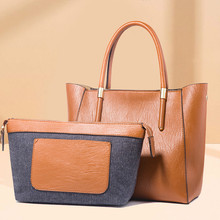 Women 2 Set Handbags Pu Leather Fashion Designer Handbag Shoulder Bag Top-Handle Vintage Female Messenger Bag Sac A Main Bolsa totem women bag modis genuine leather bag bolsa 2018 feminina handbag sac a main luxury designer shoulder