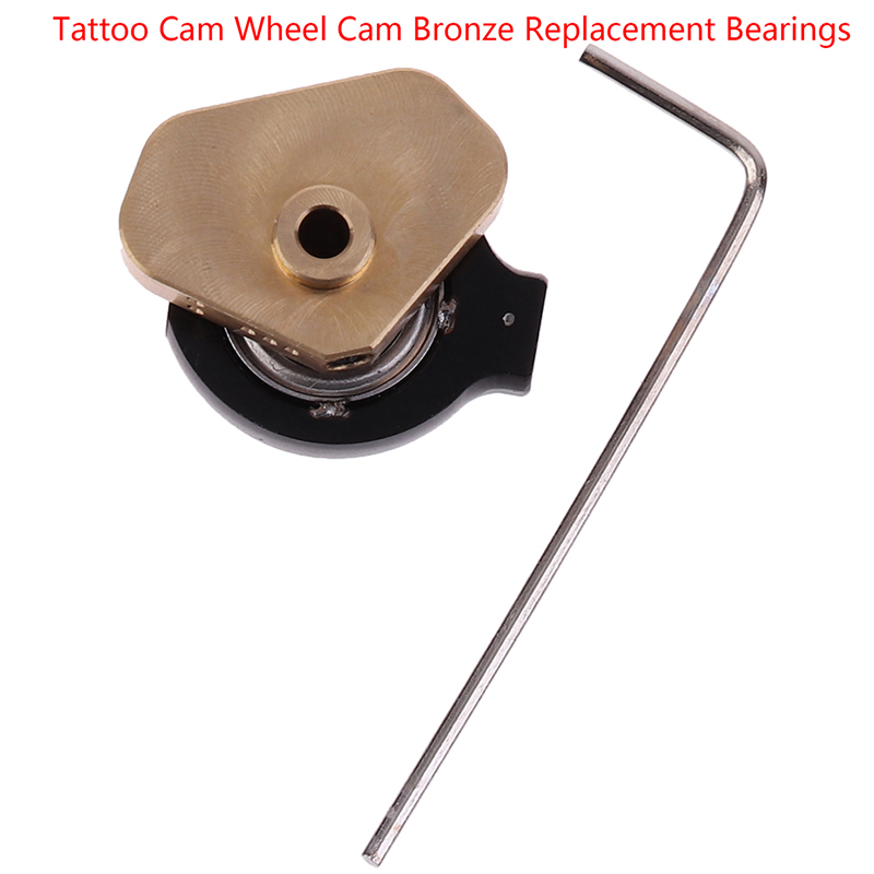 Direct Drive Bronze Tattoo Machine Adjustable Bearing Cam Wheel Motor Eccentric Wheel With Wrench
