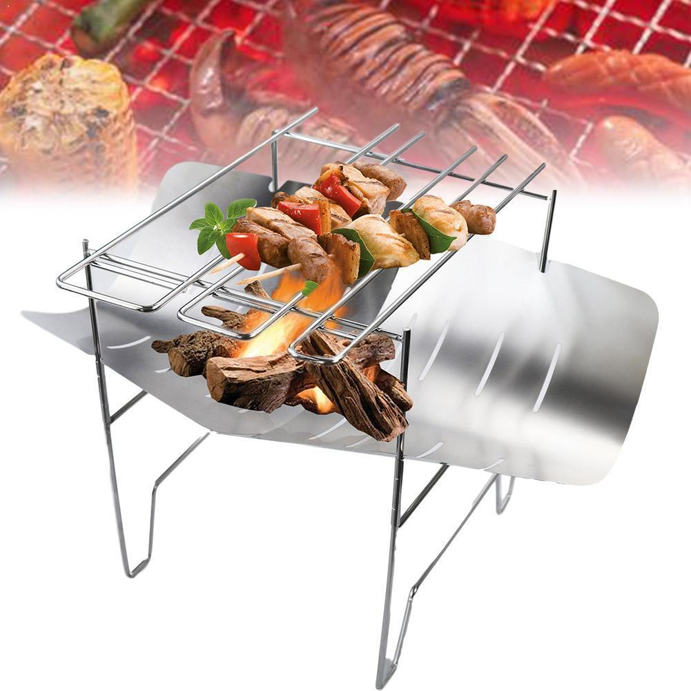 Ultralight Outdoor Portable Wood Stove Burners Multifunctional Durable Folding Supplies Barbecue Charcoal Stove Tools W7W5
