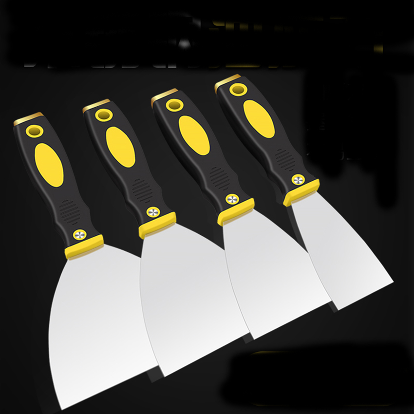 1/2/3/4/5 Inch Thickened Putty Shovel Stainless Steel Knife Scraper PP Plastic Handle Wall Plastering Knives Hand Tool