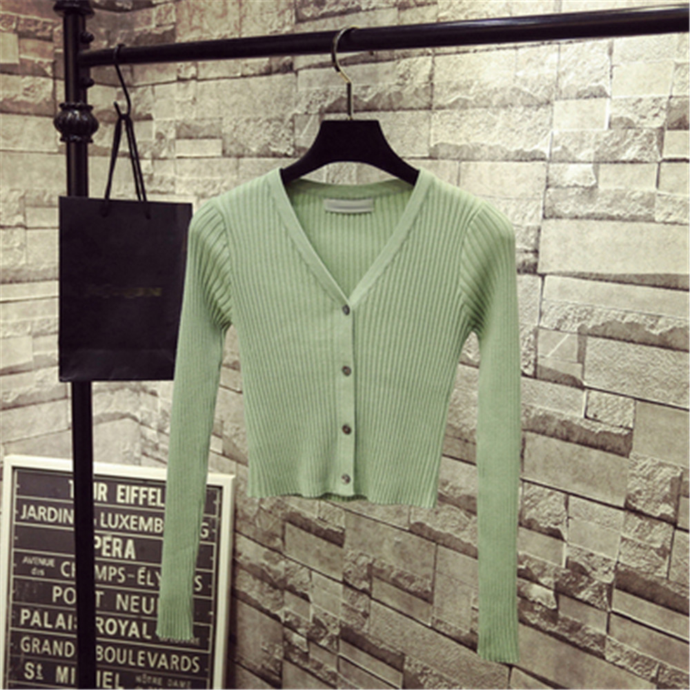 Korean Fashion Spring Newly Patchwork Sweaters Women Cardigans 2020 Slim Ladies Knitted Sweater Long Sleeve Buttons Sweater 1540 4