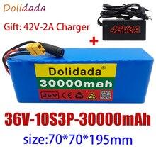 Новый 10S3P е-байка 36В 30Ah 500W высокая мощность 42В 18650 литиевая батарея пакет 30000 мА/ч, Электрический велосипед Скутер БМС + Зарядное устройство