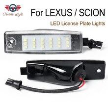 цена на 2Pcs Car styling No Error LED White rear number plate light auto lamp For Lexus RX300 Scion XB SCION xB
