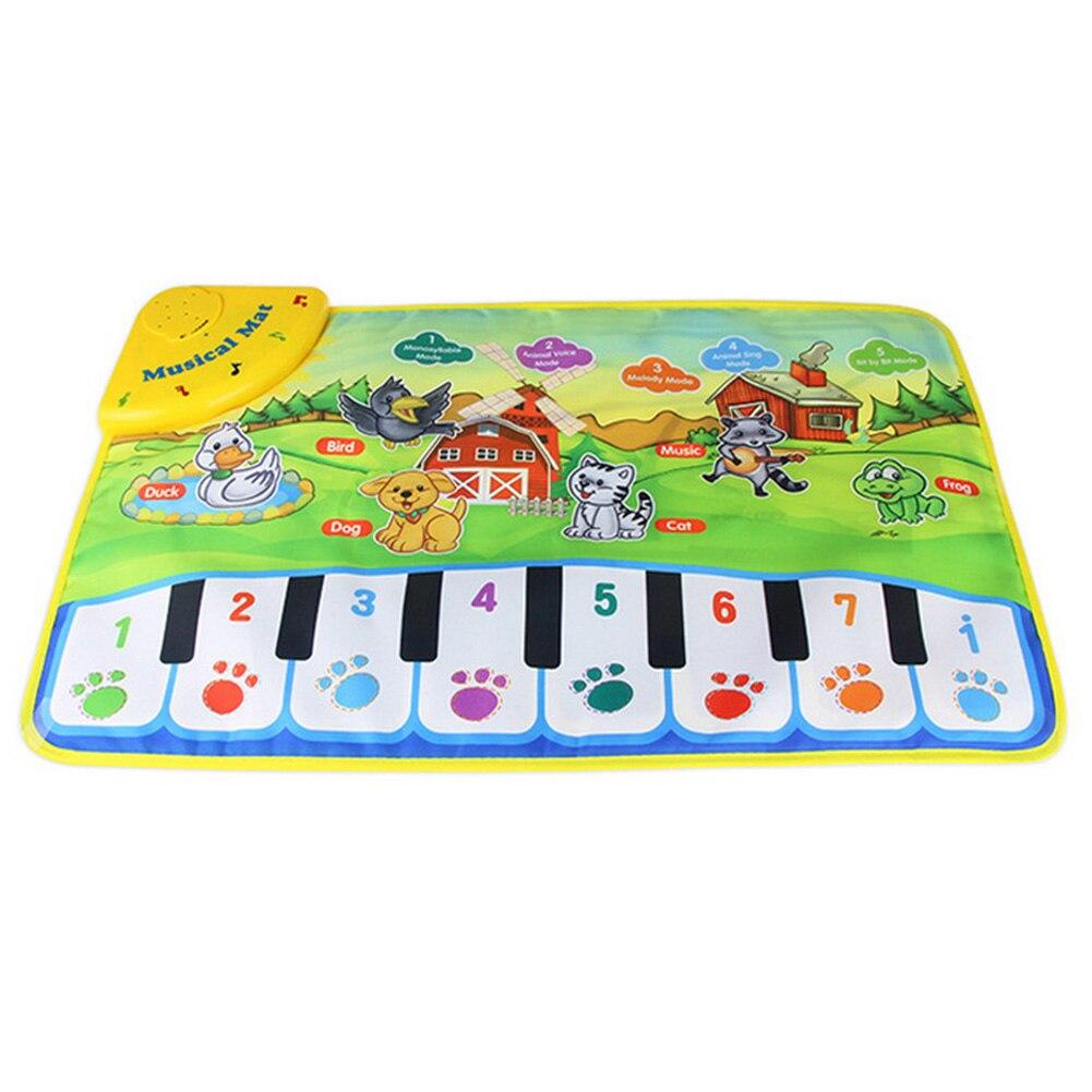 60*37 Cm  New Baby Animal Music Carpet / Baby Music Mat / Baby Child Piano Music Carpet Baby's Present Birthday Gift