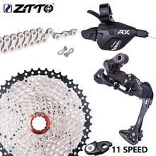 Ztto mtb 1*11 velocidade shifter desviador traseiro grupo conjunto 11 s 40t 42t 46t cassete 11 s k7 roda livre 11v corrente com extensão do gancho