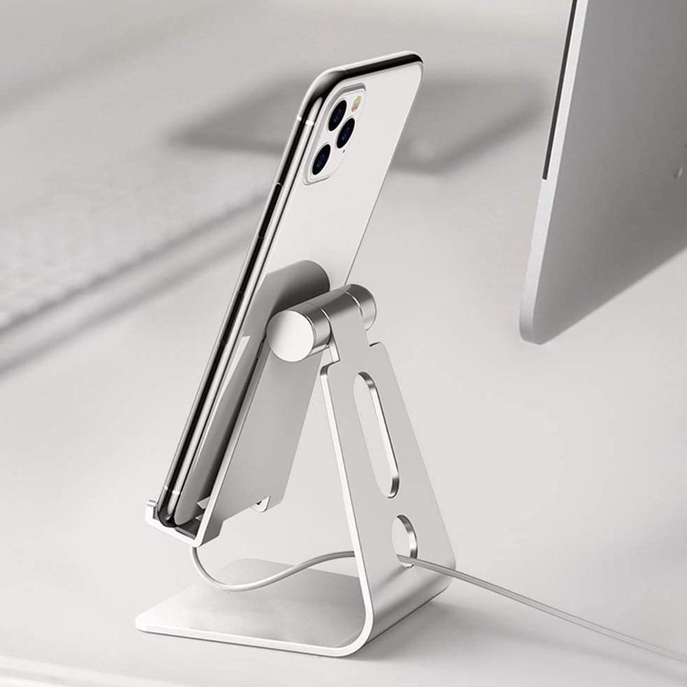 Support de téléphone portable en métal Support de bureau universel de téléphone portable Support de tablette en alliage daluminium pour le bureau à domicile