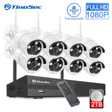 Tinosec 8CH 1080P Draadloze Cctv Camera Systeem Twee Weg Audio E-mail Alert Wifi Ip Camera Outdoor Waterdichte Video Security systeem(China)