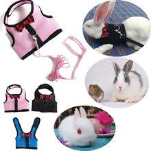 Harnais gilet lapin Hamster, avec laisse, sangle de poitrine en maille, furet guinée, petits animaux, accessoires pour animaux de compagnie