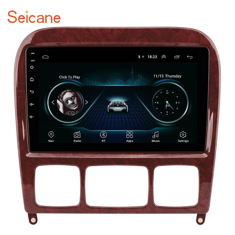 Seicane 2din Android 8.1 Lecteur Multimédia de voiture pour 1998-2005 Mercedes Benz Classe S W220 S280 S320 S350 S400 S430 S500 S600 AMG