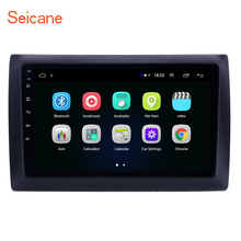 Seicane android 8.1 9 polegada 2din 2.5d tela de navegação gps do carro áudio estéreo para 2010 fiat stilo carro multimídia jogador