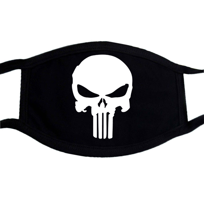 Cotton Dust Mask The Skull Punisher Cool Mouth-muffle Masks Anti Dust Haze Mouth Muffle Drop Washable Reusable Dustproof Mask