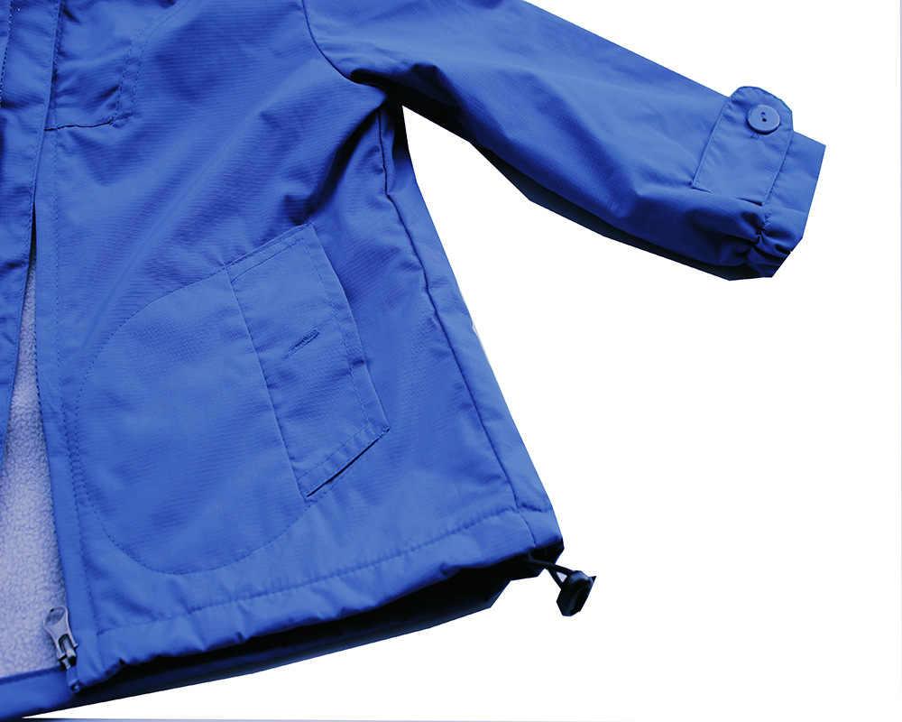 2020 새로운 캐주얼 간단한 두꺼운 따뜻한 노란색 블루 코트 연령 1-6 yrs 소년 키즈 방풍 방수 후드 버튼 포켓 outwears