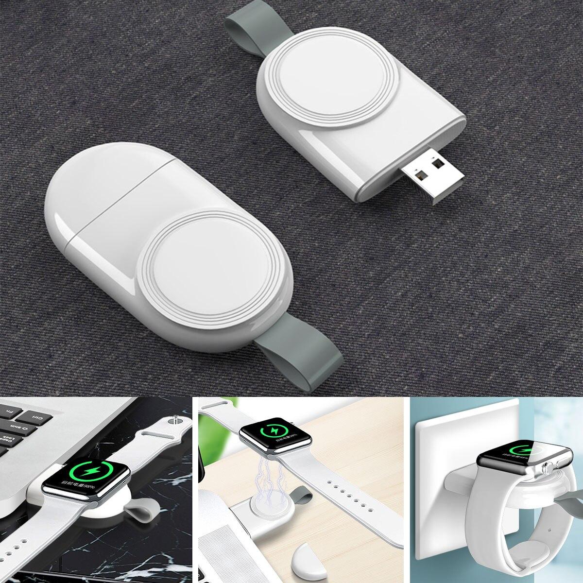 Tragbare USB Uhr Ladegerät Magnetische Drahtlose Ladegerät Für Apple Uhr Serie 6 SE 5 4 3 2 1 Adapter Wireless schnelle Lade