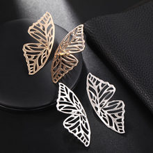 Bohemian Gold Silver Butterfly Irreguale Geometric Earrings For Women Vintage Earrings Personalized Retro Statement Jewelry(China)