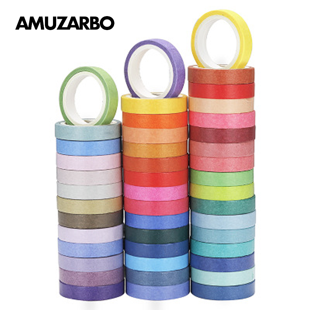 Washi Masking Tape Set 60 Rolls 8mm Wide 4M Decorative Craft Tape Collection For Scrapbook DIY Crafts Gift Wrapping Planners