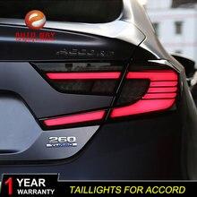 רכב סטיילינג זנב מנורת מקרה עבור הונדה אקורד 2018 2019 פנסים אחוריים אורות זנב LED עבור הונדה אקורד טאיליט אחורי מנורה LED