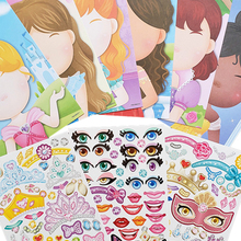 Stickers Assemble-Toys Games Dinosaur Animal Children Puzzle Training DIY Girls Princess