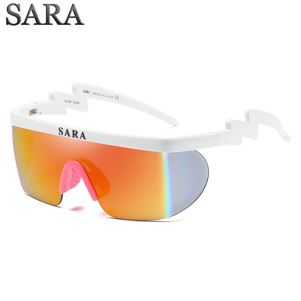 Óculos de sol Dos Homens Do Vintage Esporte Óculos Italy Projeto Revestimento do Espelho Para SARA Sunglasses Shades gafas de sol Proteção UV SA3596 CE