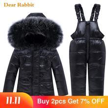 2020 nuovo Inverno Del Bambino Del Ragazzo Insieme dei vestiti Della Ragazza caldo Imbottiture cappotto del Rivestimento Snowsuit Bambini parka Bambini Vestiti tuta Da Sci Tute E Salopette cappotto
