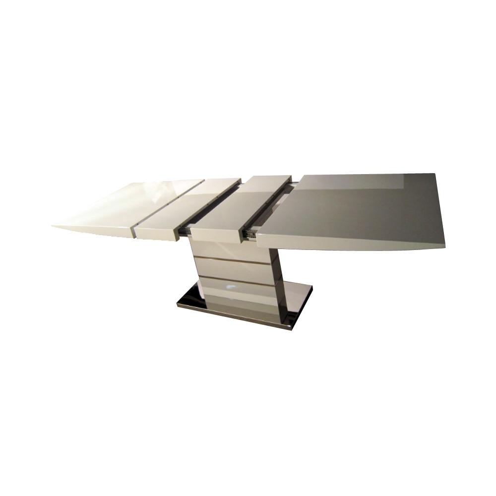 Обеденный стол nordic modern складной Белый Блестящий деревянный