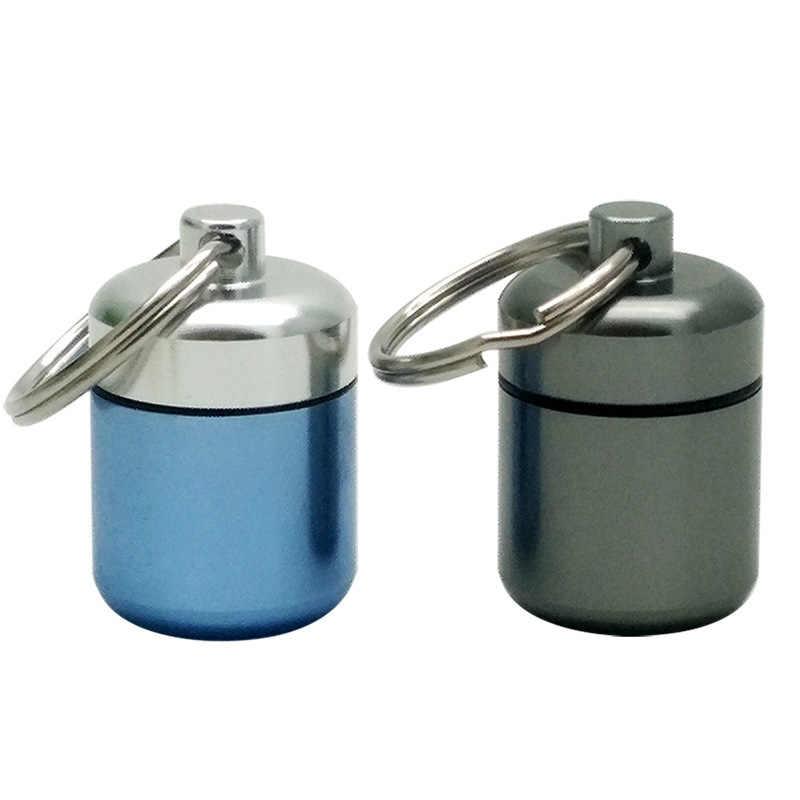 جيب حبة حاوية علب صغيرة محمولة الألومنيوم حبة حافظة حمل زجاجة حماية السمع سدادات الأذن صندوق المفاتيح في الهواء الطلق