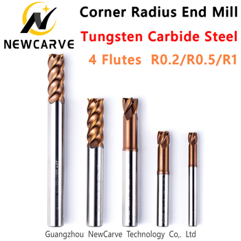 4 Flutes End Mill Special For Cosmetic Mold, Silicone Mold, Car Mold Milling Tolerance -0.01mm R0.2 R0.5 R1 NEWCARVE image