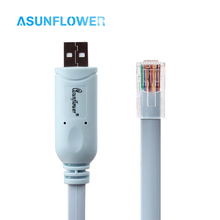 1.8M Ciscon Console RJ45 USB Extension For Mac OC 8 9 X Android Windows XP/9/8/98 FTDI FT232R chip + RS232 Level Shifter