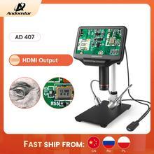 Andonstar AD407 1080P 3D HDMI 디지털 현미경 슈퍼 대형 작업 공간 7 인치 화면 수리를위한 전자 납땜 도구