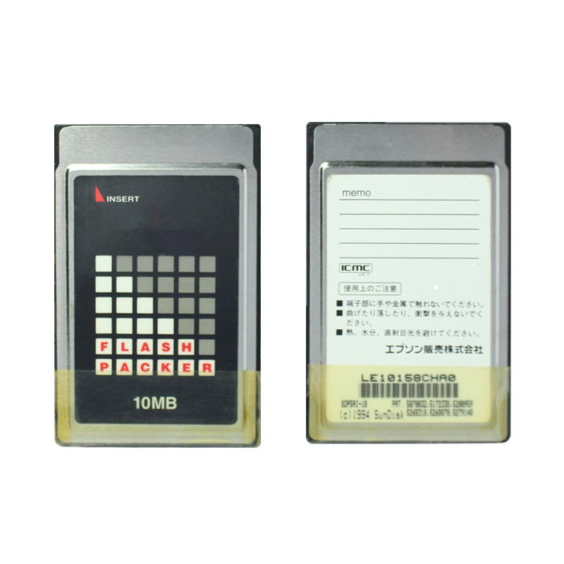 High Quality !!!  10mb PCMCIA ATA Flash Card PC Memory 68Pins