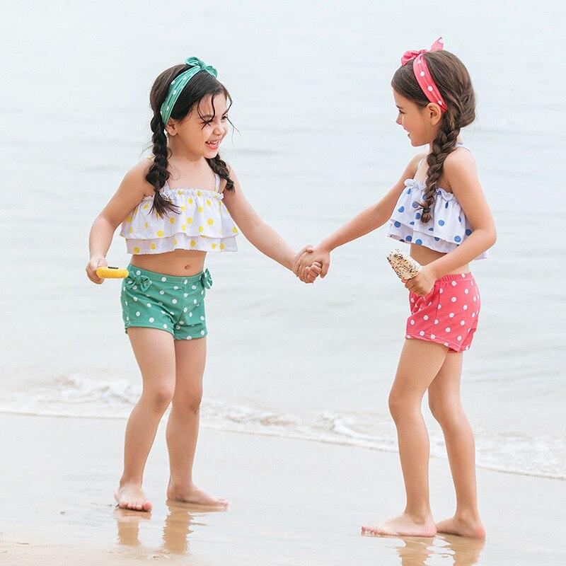 7 GIRL'S Swimsuit Small CHILDREN'S Infants 1-2-3-4-5-6-Year-Old Baby Girls Hot Springs Bathing Suit Cute Children Little Girl