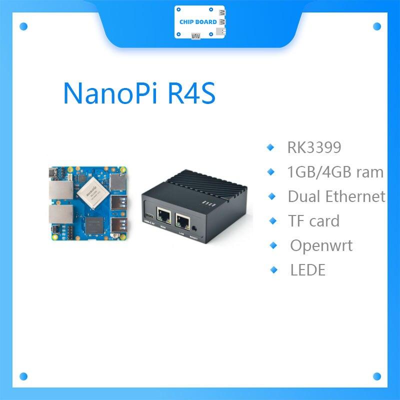 Интерфейс Ethernet FriendlyELEC NanoPi R4S, 1 ГБ/4 ГБ, два Гбит/с, RK3399, поддержка системы OpenWrt LEDE, V2ray SSR Linux Rockchip