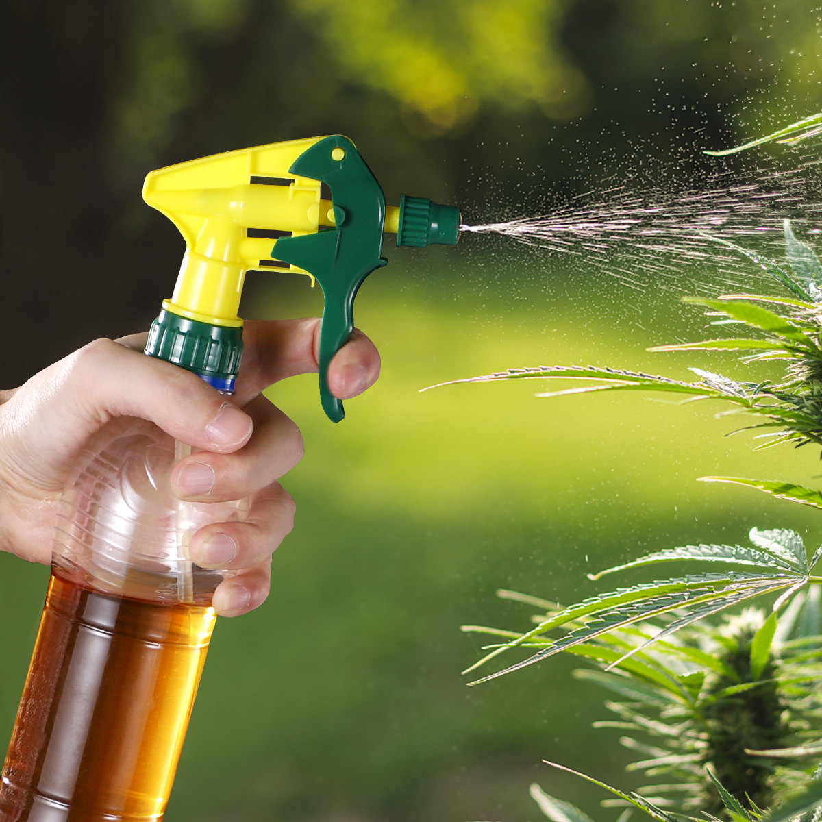 10pcs Universal Spray Bottle Trigger Replacement Plastic Spray Nozzles Thicken Sprayer Replacement Trigger Spray Tops Spray Head-4