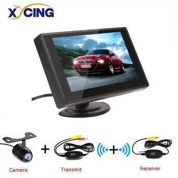 XYCING 4.3 Inch TFT LCD Car Monitor Monitor Display Reverse Camera Parking System for Car Rearview Monitors NTSC PAL image
