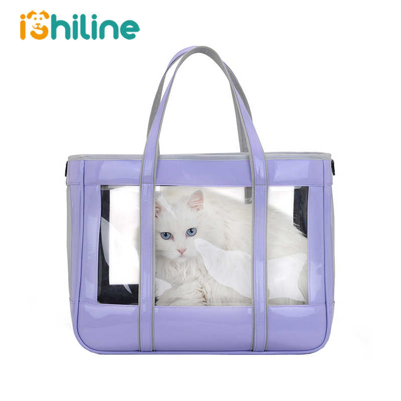 Pet Carrier Backpack for Cat and Small Dog Transparent Puppy Pet Carrier Bag Double Shoulder Outgoing Travel Cat Pet Packets