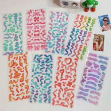 10 Colored Ribbon Kawaii Laser PVC Sticker Scrapbooking Decorative Sticker Korean DIY Diary Album Stick Cute Stationery Gift