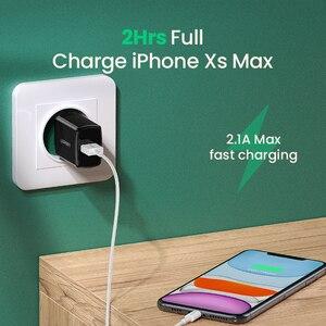 Image 3 - Ugreen 5v 2.1a carregador usb para iphone x 8 7 ipad carregador de parede rápido adaptador da ue para samsung s9 xiaomi mi 8 carregador do telefone móvel