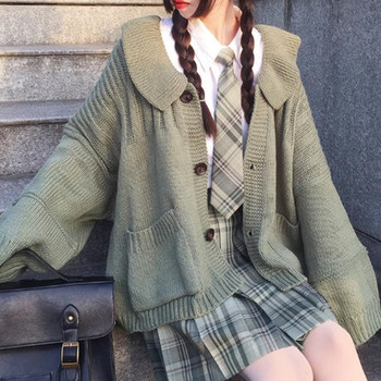 Solid Women Casual Jumper Autumn Korean Version Girls Lady Sweater Tops Femme Loose Females Sweater Coat Cute Kawaii fashion 1