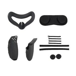 Image 5 - VR akcesoria zestaw ochronna pokrywa dla Oculus Quest 2 VR kontroler dotykowy z pierścionki na środek palca pasek uchwyt rękojeści dla Oculus pytanie
