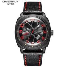 EYKI Casual Quartz Watch Men Fashion Leather Bracelet Waterproof Wristwatch Black Color Clock Male reloj hombre 2019 New E3106L shhors 2015 10m eyki reloj hombre 10000301