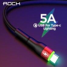 ROCK Type C 5A LED Light USB Type