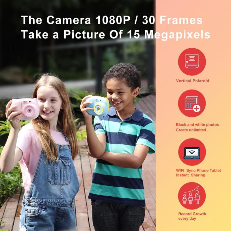 P02 TFT 2.4 pouces WiFi 1080P enfants Mini mignon caméra numérique enregistreur vidéo caméscope HD CMOS 8MP capteur de pixels - 6