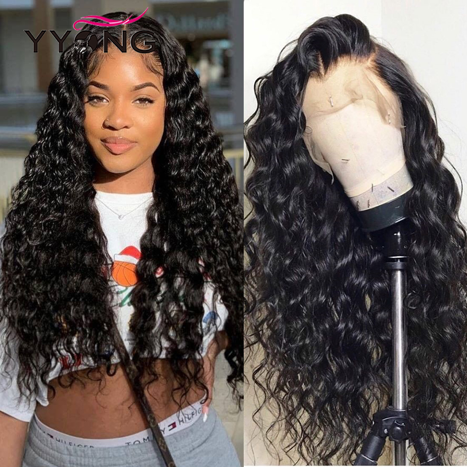 YYong 1x6 T Part Lace Wig 13*1 Hairline HD Transparent Lace Wigs  Loose Deep Wave 4x4 Lace Closure Wig 1