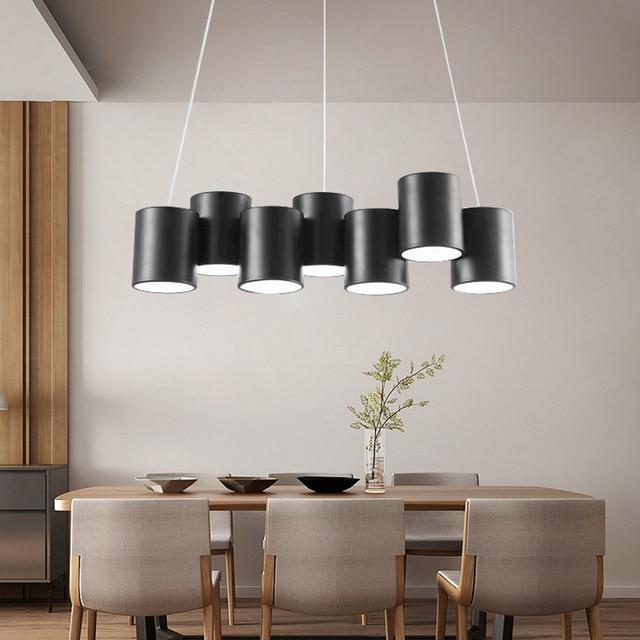 Artpad 35 Вт черная люстра светильник Led минималистичный геометрический светильник для столовой скандинавский пост современный потолочный подвесной светильник