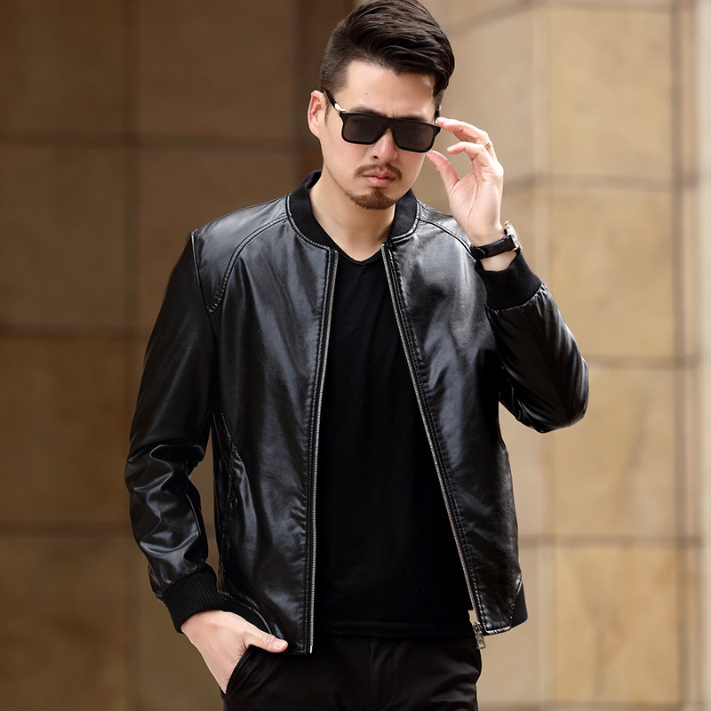 Spring Male Leather Jacket Business Casaco PU Coat for men High Quality Jaqueta De Couro Masculino Overcoat Jackets CJ307