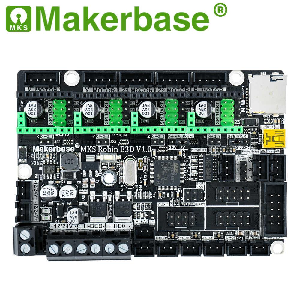 Makerbase, MKS Robin E3 E3D, tablero de Control de 32 bits, piezas de impresora 3D con controlador de modo Uart tmc2209 para Creality Ender 3 CR-10