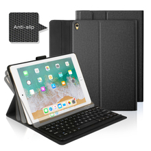 10.5-inch Ultra Slim Portable ABS Wireless Bluetooth Keyboard for iPad 2017, iPad Pro, iPad Air 2, iPad 2/3/4 + Smart Case ultra slim shell abs plastic folio wireless bluetooth keyboard carrying stand case cover for apple ipad air 2 ipad 6 9 7inch