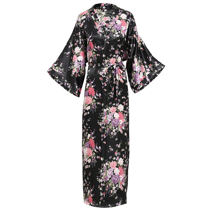 For-Female-Print-Flower-Satin-Spring-Sleepwear-Intimate-Lingerie-Kimono-Bathrobe-Gown-Home-Clothing-Large-Size (8)