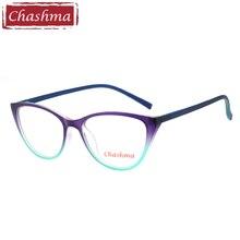 Chashma Brand Cat Eye TR 90 Prescription Glasses Gafas Mujer Quality Alloy Frames Light Eyeglasses Women Semi Rimmed Occhiali